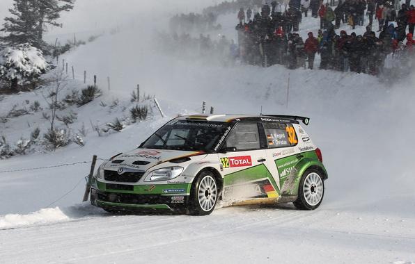 Picture Winter, Auto, Snow, Sport, WRC, Rally, Skoda, Fabia, Fabia, Sepp Wiegand, Frank Christian