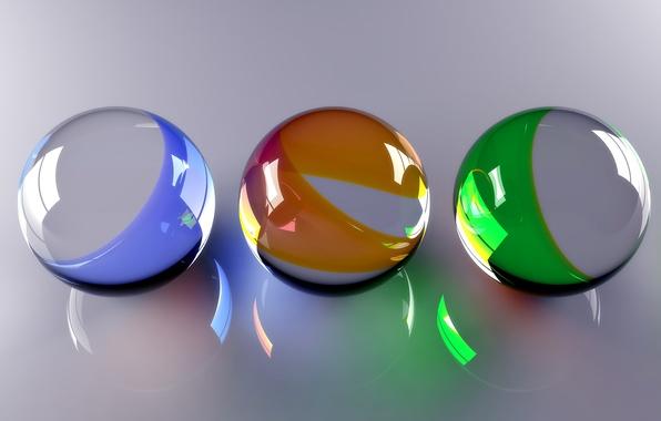 Picture Balls, Balls, Glass Beads, Glassy