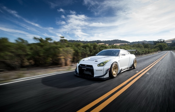 Picture car, tuning, in motion, Nissan, tuning, rechange, nissan gt-r, liberty walk