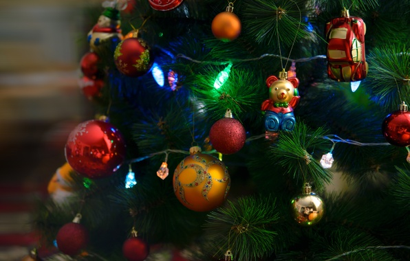 Picture mood, tree, Christmas, holidays
