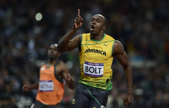 Picture London, Sport, Running, Jamaica, London, Olympic stadium, Usain St. Leo Bolt, Usain Bolt, Jamaica, 2012 …
