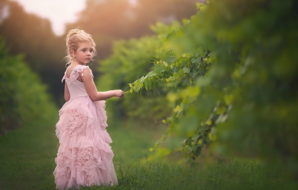 Picture branches, mood, dress, girl, bokeh
