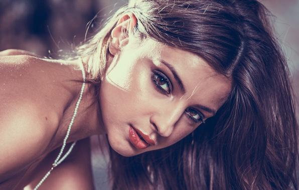 Picture eyes, look, girl, face, sweetheart, hair, makeup, lips, girl, brown hair, Maria, model, Maria, Tara, …
