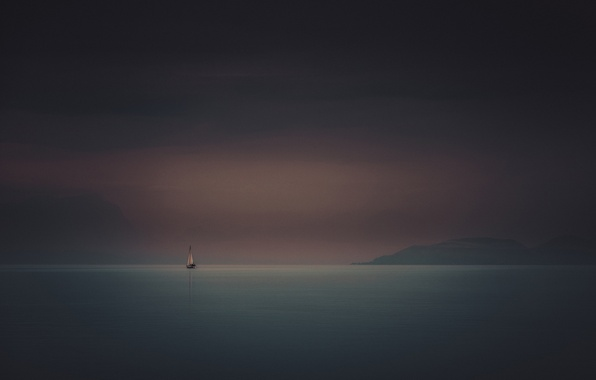 Picture sea, boat, ship, sailboat, morning, yacht