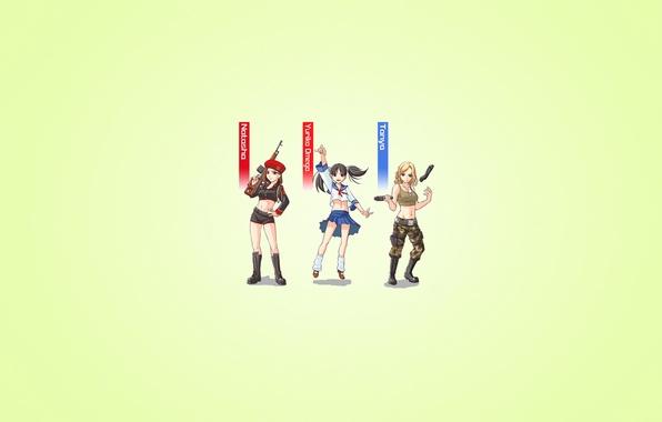 Photo Wallpaper Weapons Minimalism Tatiana Adams Anime Style Yuriko Omega Three