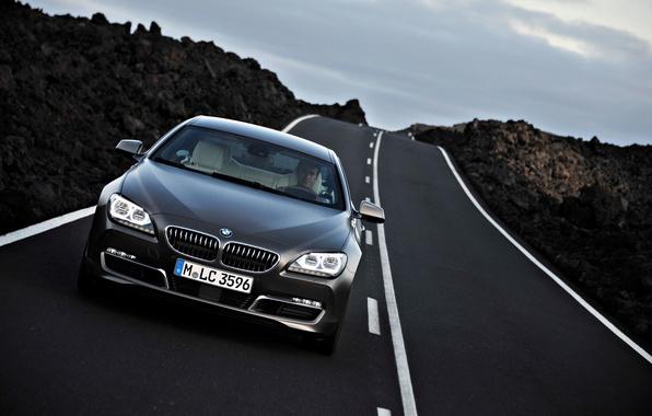 Picture Road, BMW, Machine, Asphalt, BMW, Car, The front, 6 series, Boomer