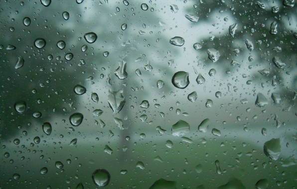Picture glass, water, drops, rain