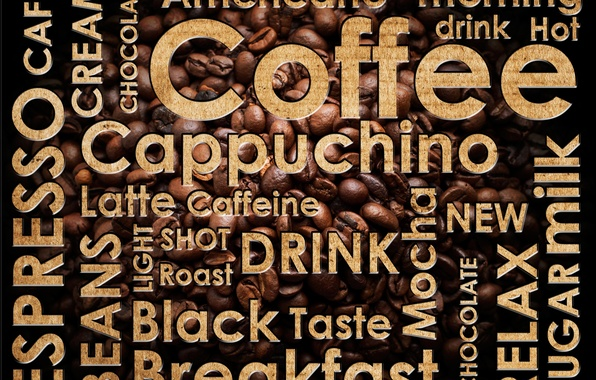 Picture labels, coffee, coffee beans, coffee, espresso, drink hot, cappuchino, latte, americano