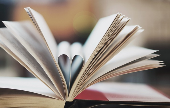 Picture macro, heart, book