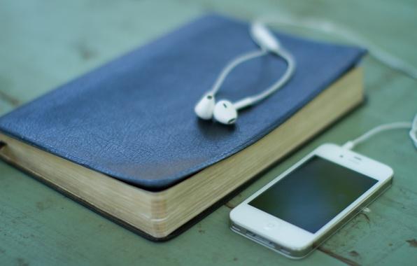 Picture technology, headphones, book, phone, gadget