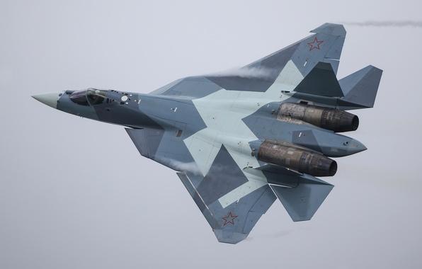 Photo wallpaper airplane, aviation, Sukhoi PAK FA T-50