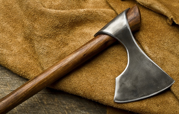 Picture axe, metal, wood, decoration
