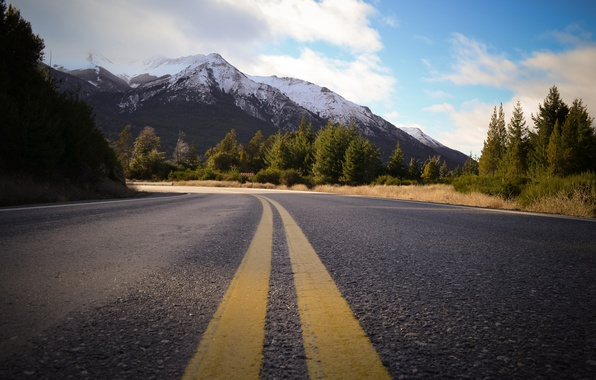Picture road, forest, mountains, highway, Argentina