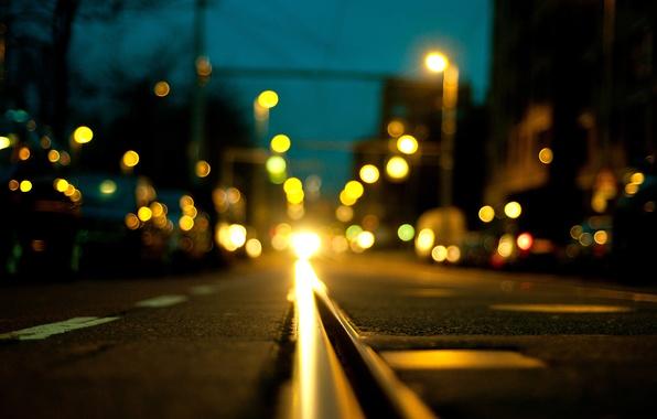 Picture road, asphalt, machine, night, the city, lights, transport, street, Netherlands, bokeh, Nederland, Zuid-Holland, South Holland, …