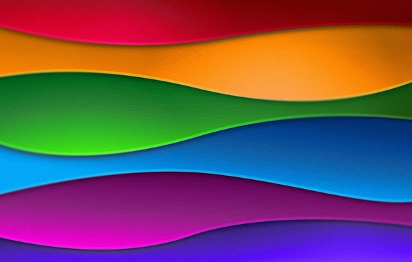 Picture wave, abstraction, colorful