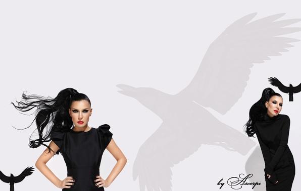 Picture white, black, singer, tree, Raven, r'n'b