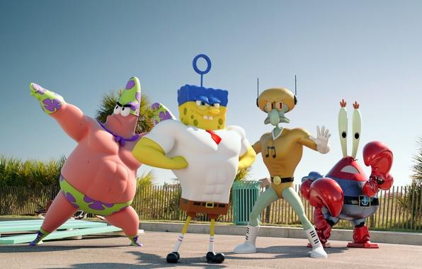 Picture Patrick, spongebob, sponge bob, squidward, The SpongeBob Movie, patrik, Mr. Krabs