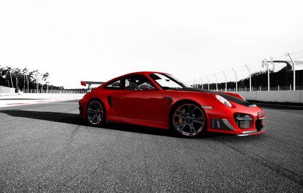 Picture red, tuning, 911, Porsche, Porsche, Porsche, track, GT2 RS, Techart
