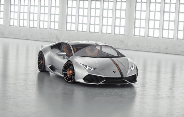 Picture Lamborghini, Tuning, Lamborghini, Front, Supercar, Wheelsandmore, Before, Tuning, Supercar, Silver, Huracan, Huracan, Silver, LP850-4, Lucifer