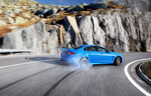 Picture Drift, jaguar, XFR-S
