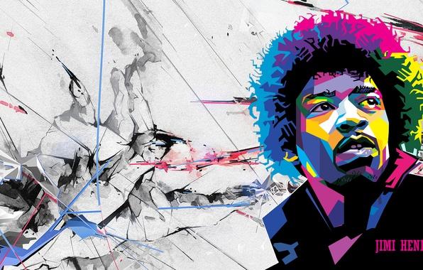 Picture genius, guitarist, Rock, legend, Jimi Hendrix, virtuoso
