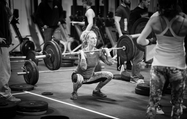 Photo Wallpaper Workout Gym Crossfit Weightlifting