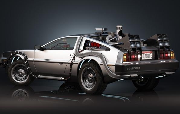 Photo wallpaper Delorean, Back to the Future, Time machine, Time machine