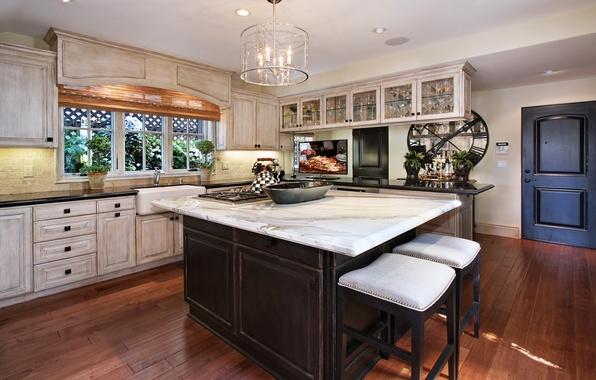 Picture design, photo, table, interior, kitchen, chandelier