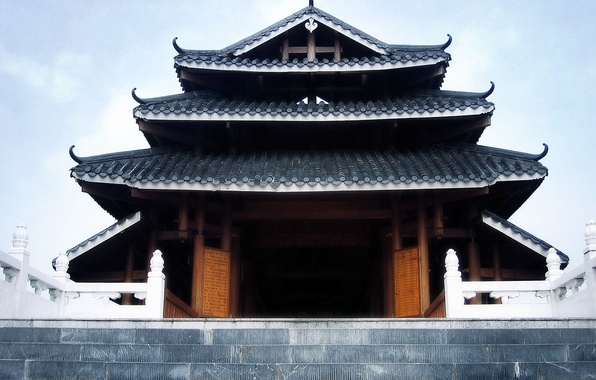 Picture roof, house, Asia, stage