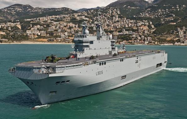 "Picture sea, ship, type, landing, universal, ""Mistral"", (L9015)"