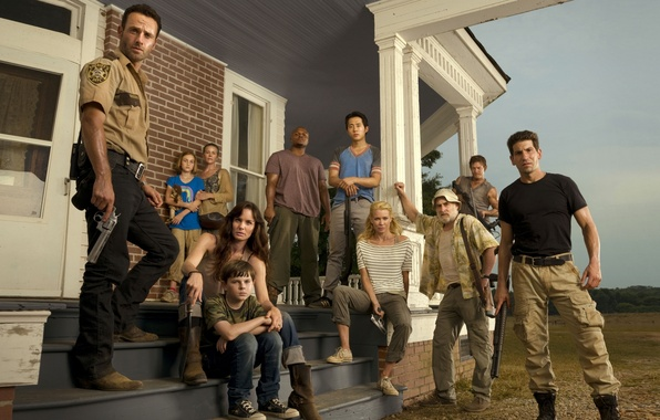 Picture zombies, zombie, the series, characters, farm, serial, Andrea, The Walking Dead, The walking dead, Sophia, …