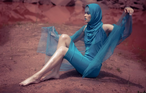 Picture face, pose, background, model, makeup, dress, fabric, legs