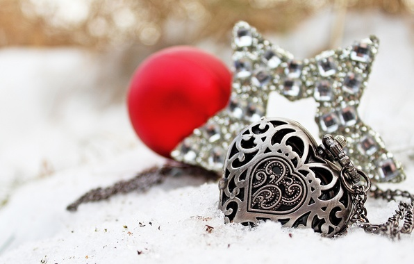 Picture snow, heart, star, watch
