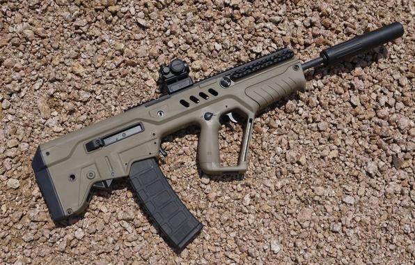 "Picture weapons, machine, rifle, muffler, assault, ""Tavor"", CTAR-21, replica"