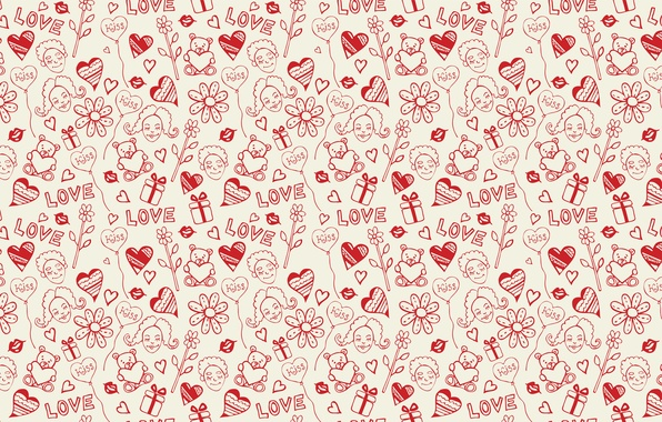 Picture girl, love, face, holiday, heart, vector, texture, heart, lips, drawings, girl, gifts, hearts, sponge, widescreen ...