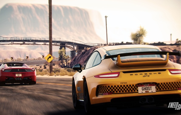 Picture Porsche, Need for Speed, nfs, GT3, 2013, Ferrari 458, Rivals, NFSR, NSF
