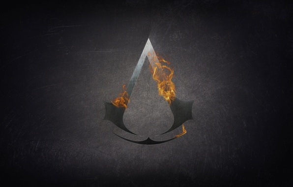 Picture fire, flame, assassins creed, the creed of the assassins, sign asasinov