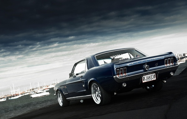 Picture Mustang, Ford, Mustang, muscle car, Ford, muscle car, 1967, rear, Jake, Andrei Diomidov