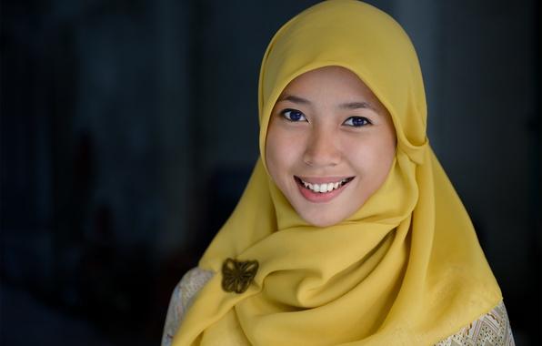Picture girl, blue eyes, Indonesia, Islam, Ulrika, Jakarta