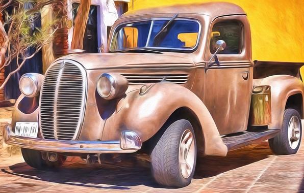 Picture retro, classic, pickup, pickup