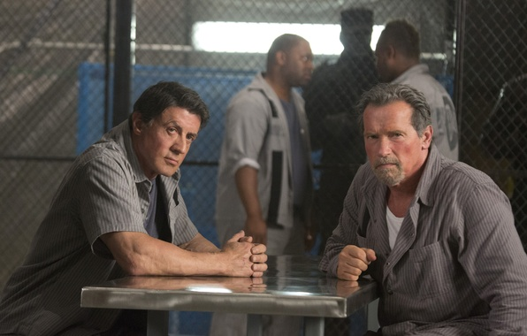 Picture mood, actors, Arnold Schwarzenegger, Sylvester Stallone, Sylvester Stallone, Arnold Schwarzenegger, Ray Breslin, Escape plan, Emil …