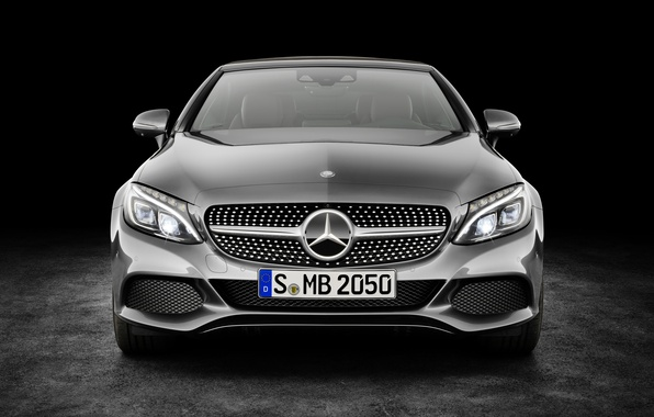 Picture Mercedes-Benz, convertible, black background, Mercedes, AMG, AMG, Cabriolet, C-Class, A205