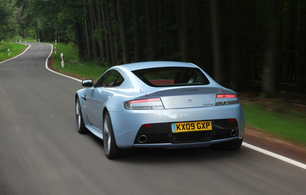 Picture auto, Aston Martin, Vantage, rear view, V12