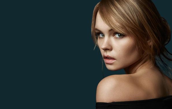 Picture look, girl, face, background, sweetheart, model, hair, portrait, lips, beautiful, shoulder, Rus, Anastasia Shcheglova, Anastasia …