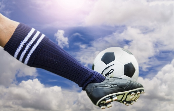 Picture soccer, ball, Sky kick
