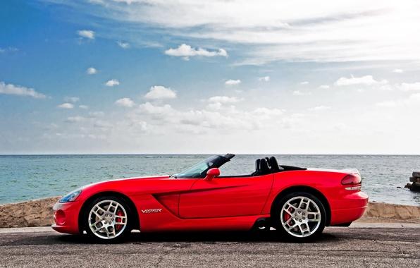 Picture car, red, Dodge, rechange, SRT-10, dodge Viper