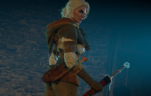 Picture girl, sword, Witcher, The Witcher 3: Wild Hunt, The Witcher 3: wild hunt, ciri, Cirilla …