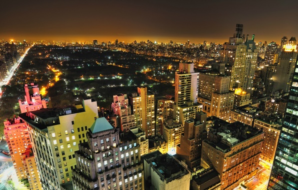 Picture night, the city, Park, Wallpaper, New York, City, New York, Night, Park, Central, wallpapers