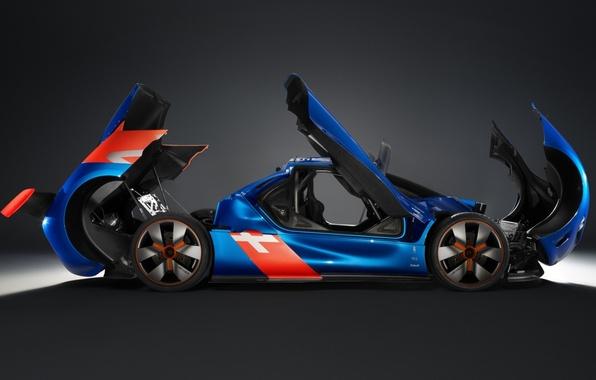 Picture Concept, door, the hood, the concept, Renault, the trunk, twilight, Reno, side view, Alpine, Alpine, …
