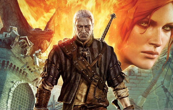 Picture Dragon, Look, Fire, Castle, Sword, the Witcher, The Witcher 2: Assassins of Kings, Xbox 360, …